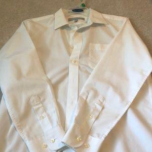 Nordstrom white smart care dress shirt boys 16